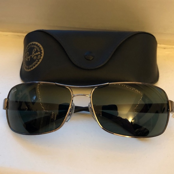 f3be18ddc3 Ray-Ban RB 3379 Double Bridge Wrap Sunglasses
